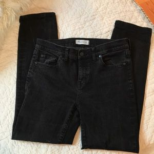Madewell Black Alley Straight Jeans